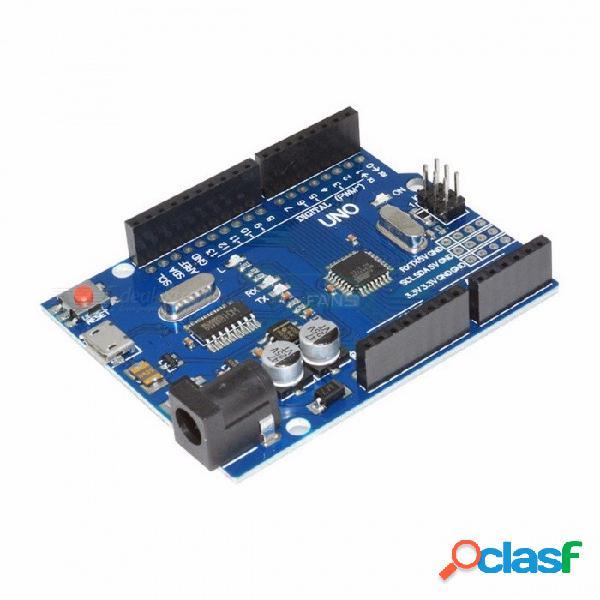 Versión fresca uno r3 ch340g mega328p para arduino uno r3 atmega328p au compatible ch340 micro usb kit de bricolaje azul