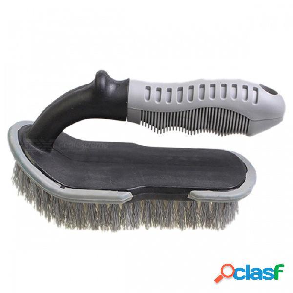 Cepillo de neumático de coche cepillo de alfombra en forma de u cepillo de limpieza de neumáticos herramienta de lavado de automóviles