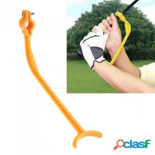 Práctica guía golf swing entrenador principiante alineación golf clubs gesto correcto muñeca ayudas de entrenamiento herramientas golf accesorios amarillo