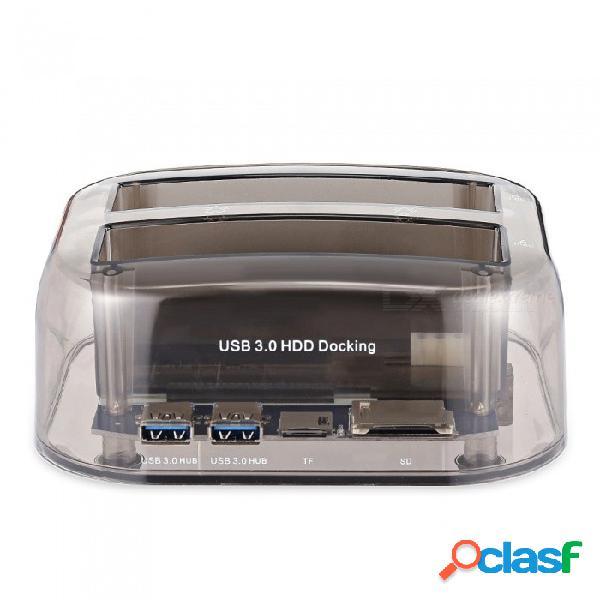 Sata + ide usb3.0 puerto serie / ordenador portátil universal paralelo 2.5 / 3. base de disco duro con tarjeta de lectura