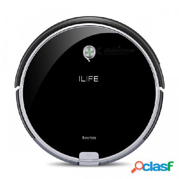 Aspirador robótico ilife a6, limpiador elegante y elegante con indicador luminoso de respiración led para la limpieza del hogar - ue