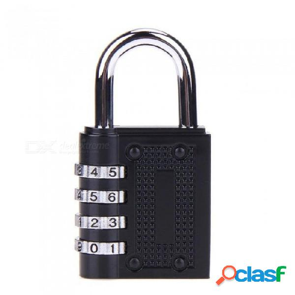 Combinación de contraseña de 4 dígitos cerradura de la contraseña cerradura de seguridad de aleación de zinc maleta equipaje codificado cerradura armario armario armario candado negro