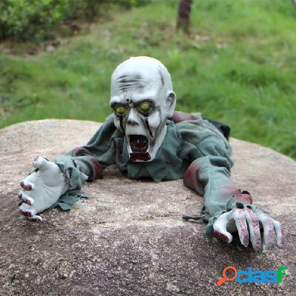 Fiesta de halloween, fantasmas rastreros, casa embrujada, escapar de accesorios de decoración, juguete eléctrico fantasma gris