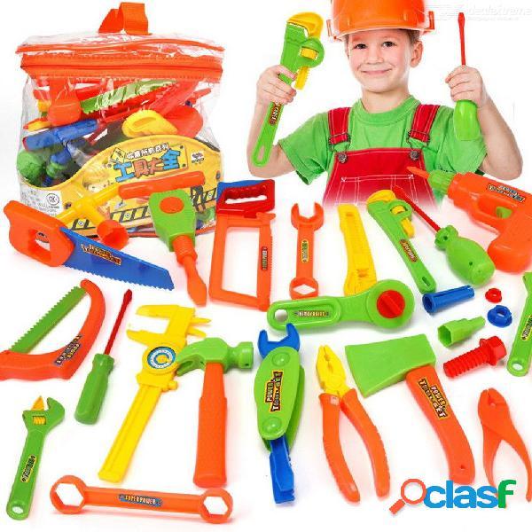 Juego de herramientas de juguete para niños que simula la vida real juego de construcción de juegos de simulación