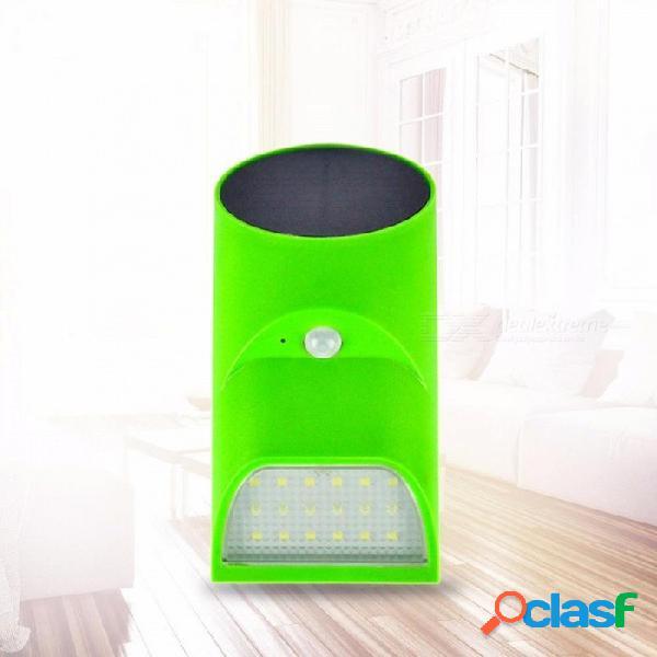 Luz solar de inducción solar de luz solar de bambú luz de inducción led luz de iluminación exterior para exteriores luz verde de la casa