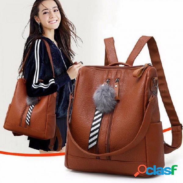 Moda elegante gran capacidad de doble desgaste bolso de las mujeres mochila, bolso de viaje con cremallera bolso de hombro