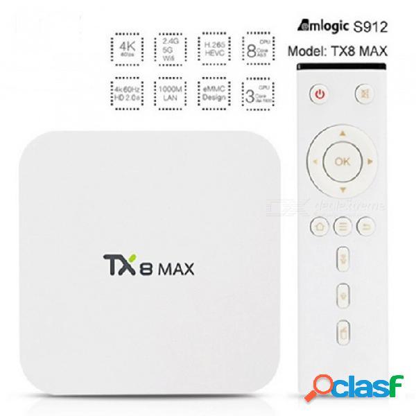 Tx8 tv box android 6.0 amlogic s912 set top box con 3gb ram 32gb rom - enchufe de los estados unidos