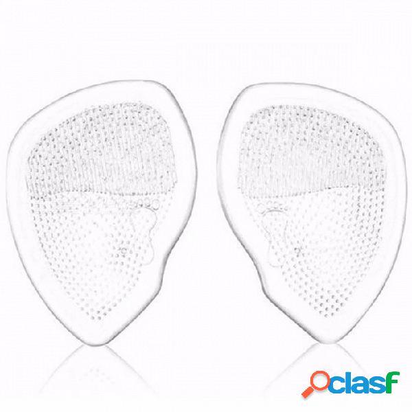 Almohadilla delantera transparente para mujer, media plataforma de gel de sílice, almohadilla para zapatos de tacón alto, almohadilla antideslizante transparente