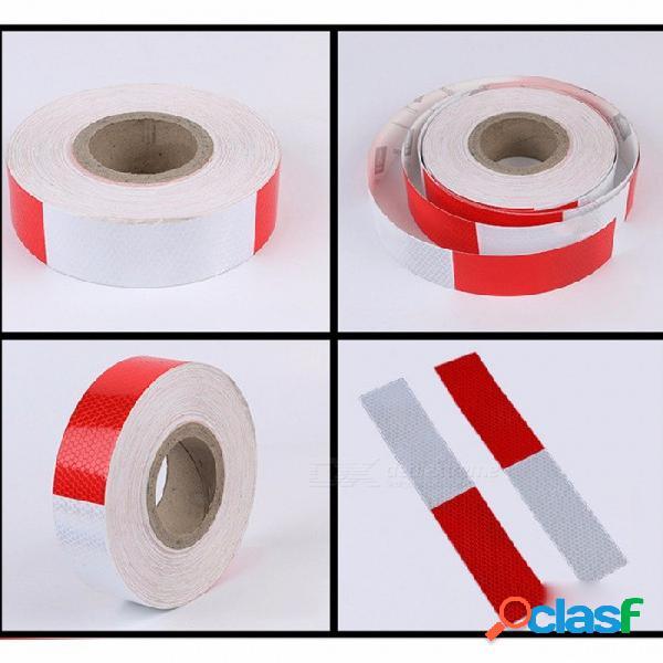 Cinta reflectante de carrocería roja y blanca de 35 m * 5 cm, adhesivo de seguridad reflectante del vehículo, etiqueta adhesiva, etiqueta reflectante multi tira