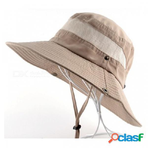 Hombres bob verano cubo sombreros de pesca al aire libre sombrero de ala ancha uv cap protección hombres senderismo sombrero al aire libre gorro sombreros para hombres marrón