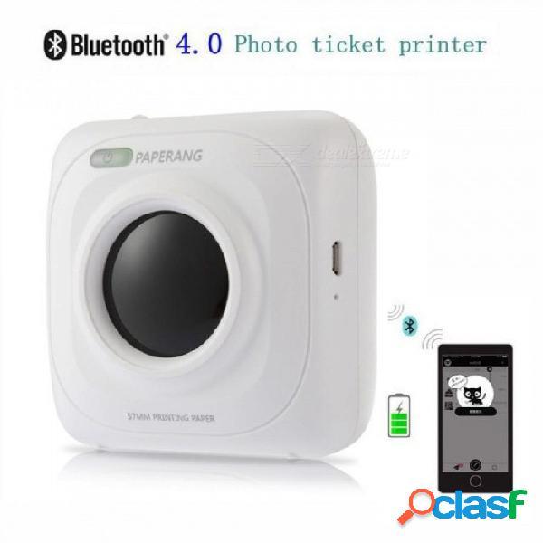 P1 impresora portátil bluetooth 4.0 impresora impresora de fotos teléfono conexión inalámbrica impresora 1000 mah batería de iones de litio blanco