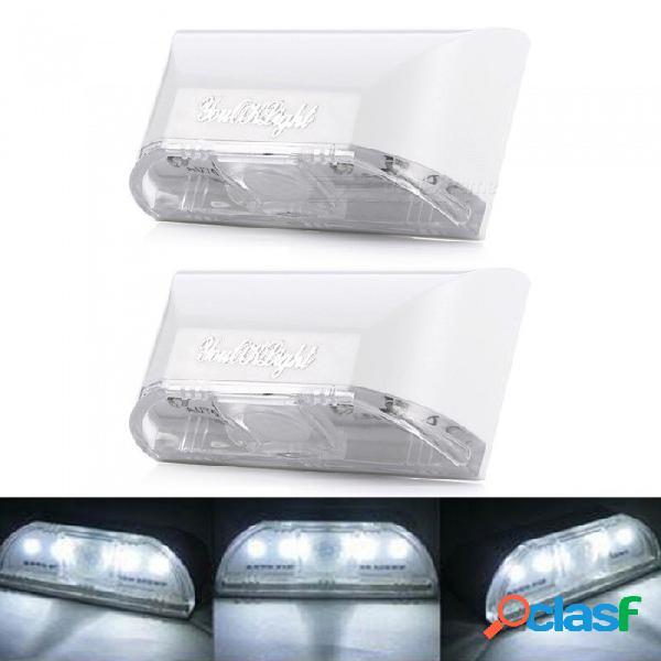 Youoklight 4 led de luz blanca, pir inalámbrico auto infrarrojo sensor de infrarrojos detector de movimiento de la llave del orificio de la lámpara sensor ambiental promoción, 2pcs