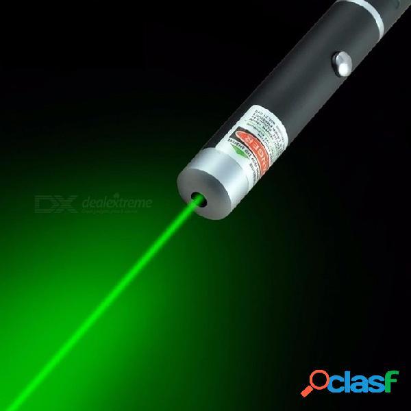 Potente 5mw 532nm láser verde pluma láser puntero presentador remoto lazer caza láser aburrimiento sin batería negro