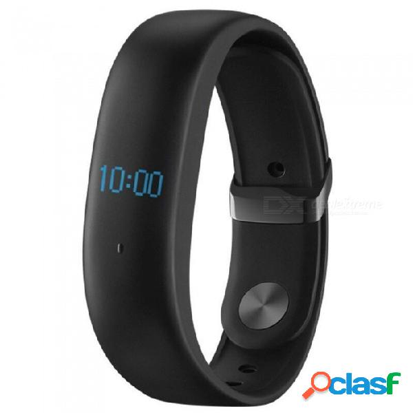 Pulsera inteligente meizu h1 fitness tracker con monitor de frecuencia cardíaca inteligente, pantalla oled, ip67 a prueba de agua - negro