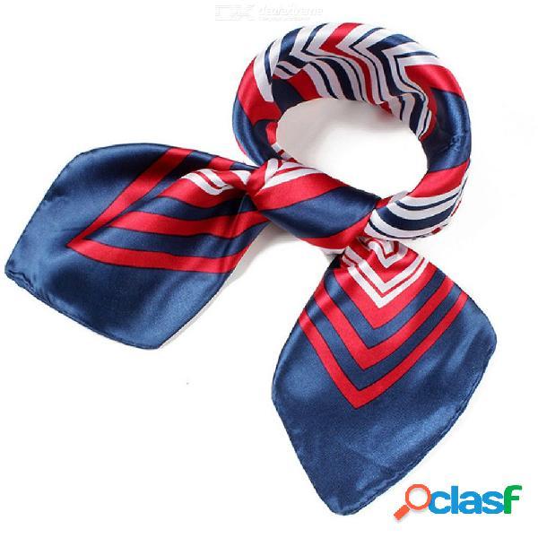 Bufanda de seda de las mujeres cuello cuadrado camarero de hotel asistentes de vuelo bufandas de seda 60x60 cm