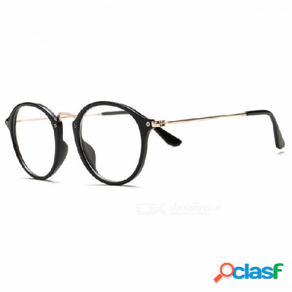 Gafas transparentes clásicas vintage redondas unisex nerd gafas marco gafas claras lunette de vue oculos de grau con caja