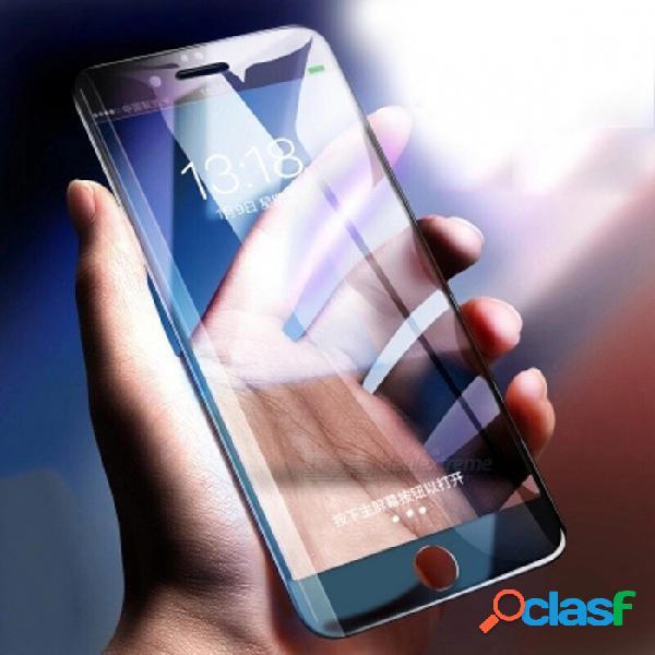 Protector de pantalla de cristal templado de cubierta completa 6d anti-azul película ligera para iphone 7 - negro