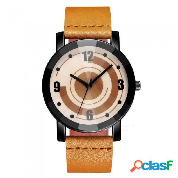 Reloj de pulsera de mujer cooho c10 creativo diseño retro reloj de cuarzo casual de moda de todos los partidos - amarillo
