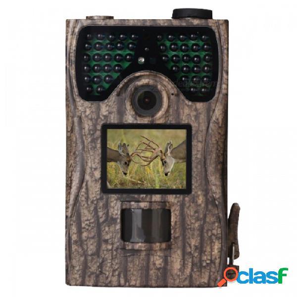 """Ip55 impermeable 12mp 1080p 2.0 """"juego de alta definición & cámara de caza con visión nocturna de 48pcs ir leds hasta 65 pies / 20 m"""