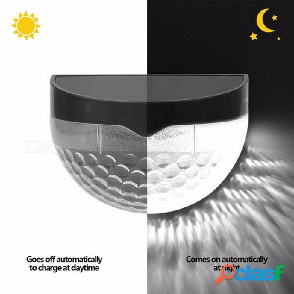 Lámpara de pared led solar a prueba de agua al aire libre, luz del pasillo del porche del jardín blanco / 0-5w / negro