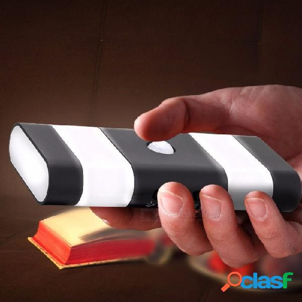 Luz inteligente de la noche del sensor táctil recargable del usb, lámpara de pared inalámbrica del poder led de la carga por usb blanco / negro