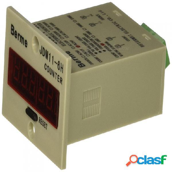 Modo de panel de reinicio de entrada del sensor rxdz dc24v pnp contador de pantalla led de 6 dígitos