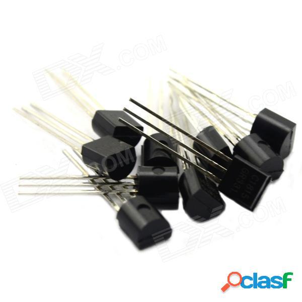 Transistor del paquete del transistor de la energía pequeña de maitech / 11 clases de especificaciones - negro (110 pcs)