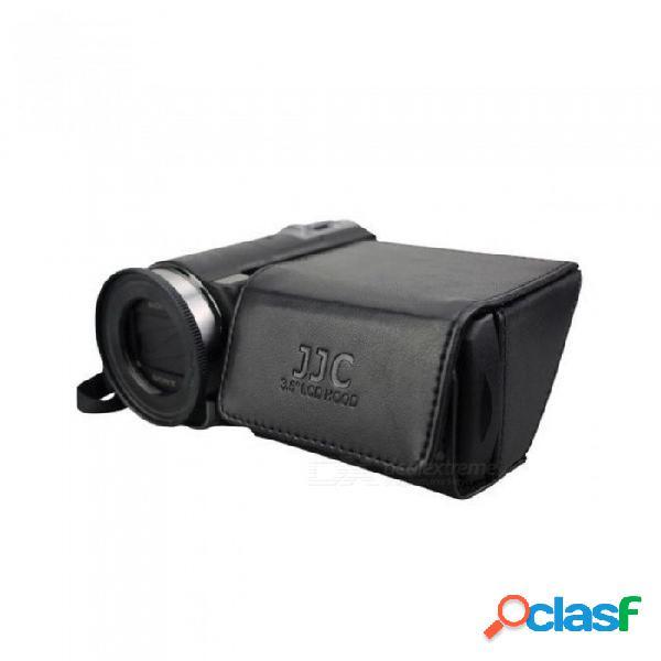 """3.5 """"dv dslr videocámara protector de pantalla lcd campana plegable pantalla protector solar para canon vixia hf s20 / s200 / s21 negro"""