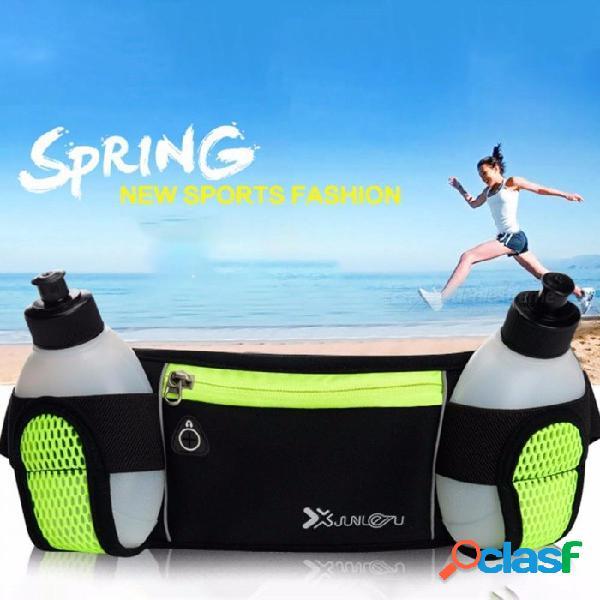 Deportes al aire libre funcionamiento hervidor bolsillos para teléfonos móviles cinturón de maratón personal multifunción kit de deportes al aire libre negro