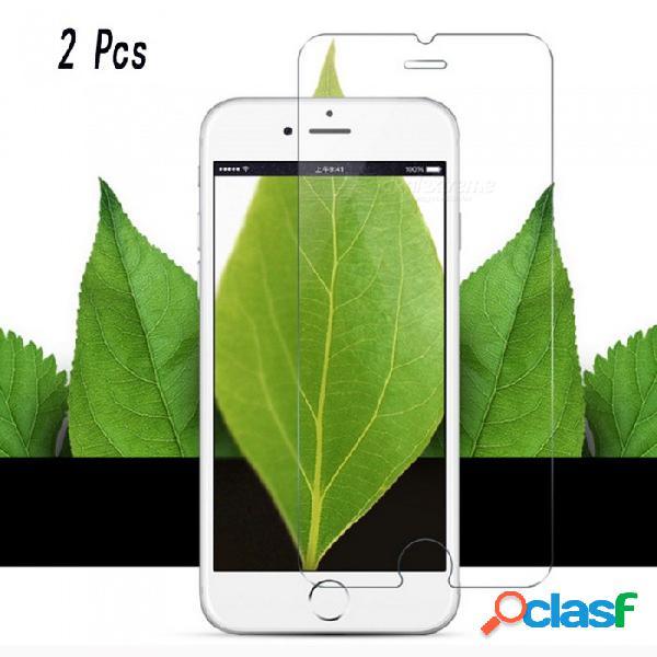 Deslumbra los protectores de pantalla de vidrio templado de color para iphone 7 / iphone 7plus 0.3mm (2 piezas)