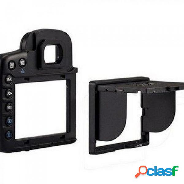 La cámara protectora de la pantalla lcd y el protector de la pantalla del parasol cubren la sombra de la cámara canon canon eos 7d tipo negro dividido