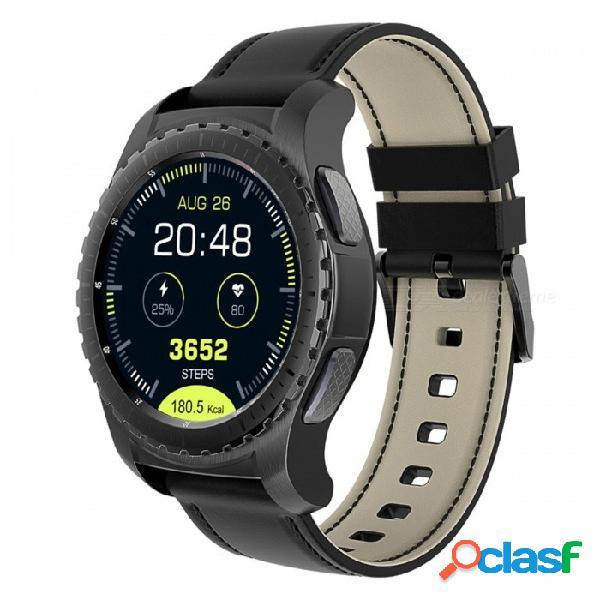 Reloj inteligente con pantalla redonda kw28 gps sim 1.3, soporte para música de tarjeta tf, monitor de ritmo cardíaco bluetooth