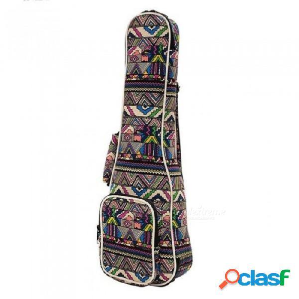 "21"" 23"" 26 '' bolsas de instrumentos de ukelele bolsas de lona de guitarra con doble correa de hombro casos s m l con colorido de 21 pulgadas"