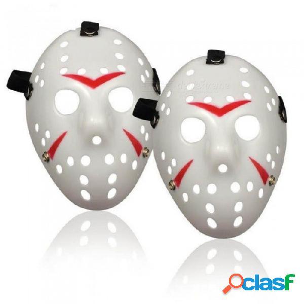 Máscara de halloween jason voorhees viernes 13 de la película de terror máscara de hockey fiesta de halloween cosplay máscara de miedo blanco