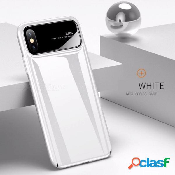 Nueva funda de teléfono para iphonex apple 10 cubierta de vidrio protectora + pc 2 en 1 anti-caída creativa