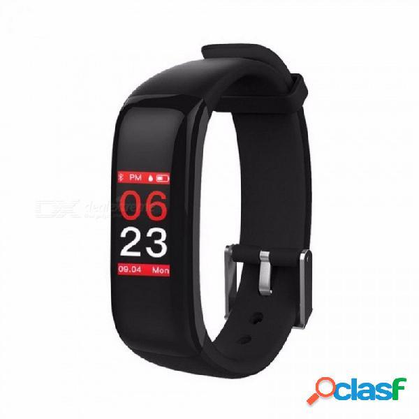 P1 plus pantalla a color reloj inteligente pulsera de fitness monitor de ritmo cardíaco monitor de presión arterial pulsera ip67 a prueba de agua naranja