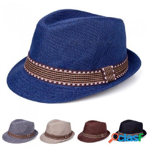 Sombrero de bebé niños gorra de paja de jazz bebé niños niñas gorra bebé sombrero para niñas niños niños gorra de sol sombrero de panamá accesorios de fotografía negro
