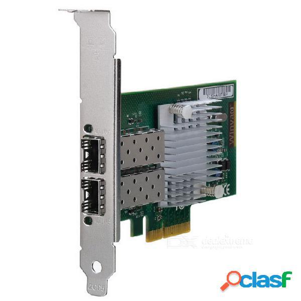 Winyao wyi350f2-sfp adaptador de servidor pci express de doble puerto sfp gigabit ethernet intel i350 chipset
