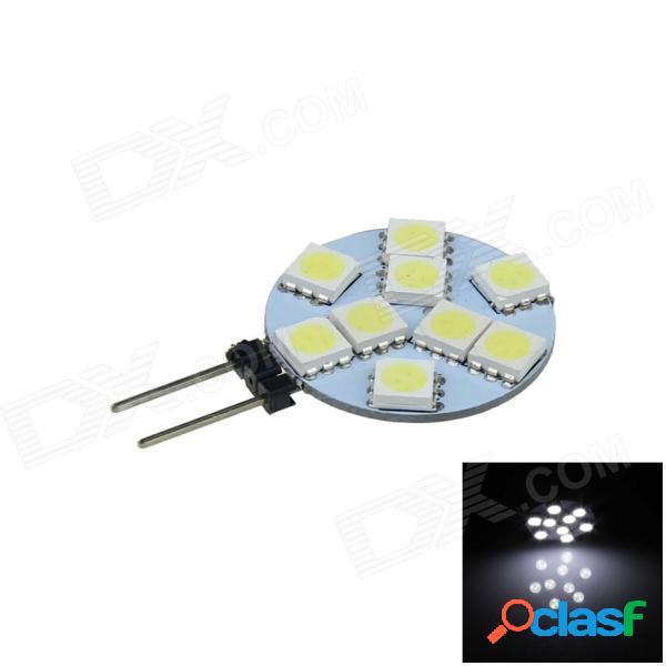 G4 1.8w 130lm 9 x smd 5050 led de luz blanca sin polaridad para instrumentos / leyendo / lámpara de techo - (12v)