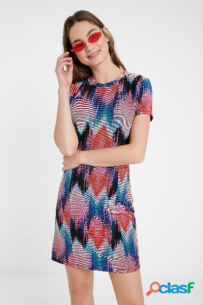 Vestido arty rombos psicodélicos - material finishes - s