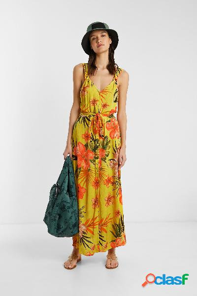 Vestido eco largo floral - YELLOW - XL