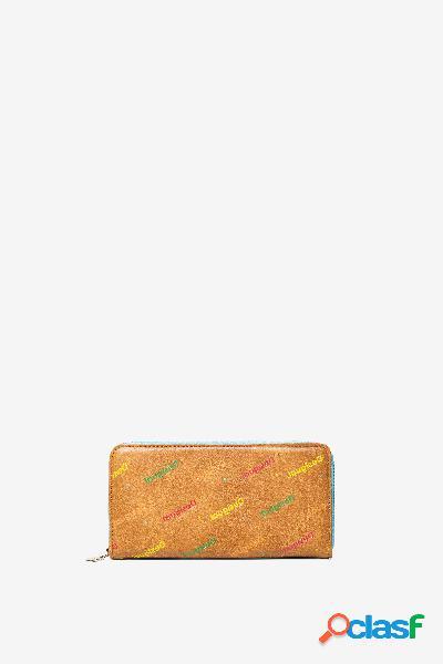 Monedero en logomanía multicolor - brown - u