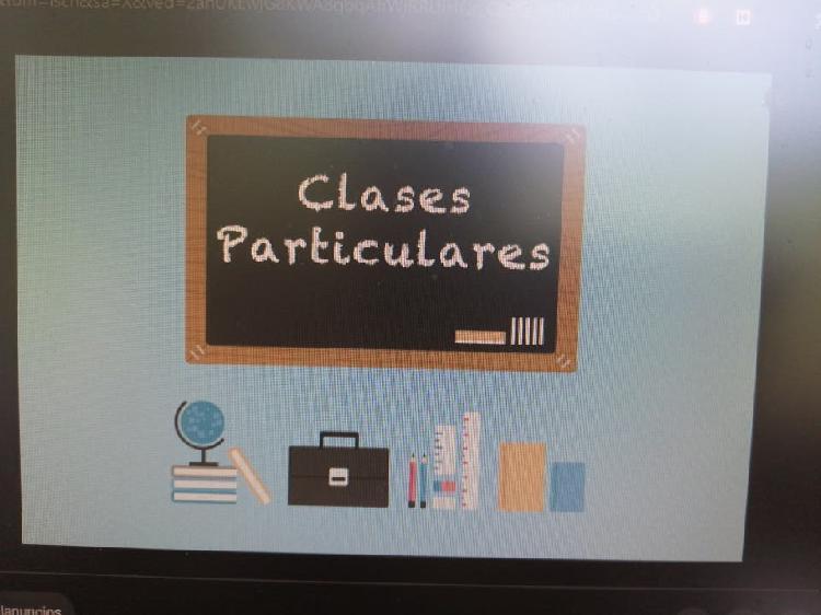 Clases particulares y apoyo al alumno