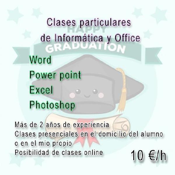 Clases de informática y office