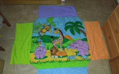 Gimnasio hinchable con manta para bebés