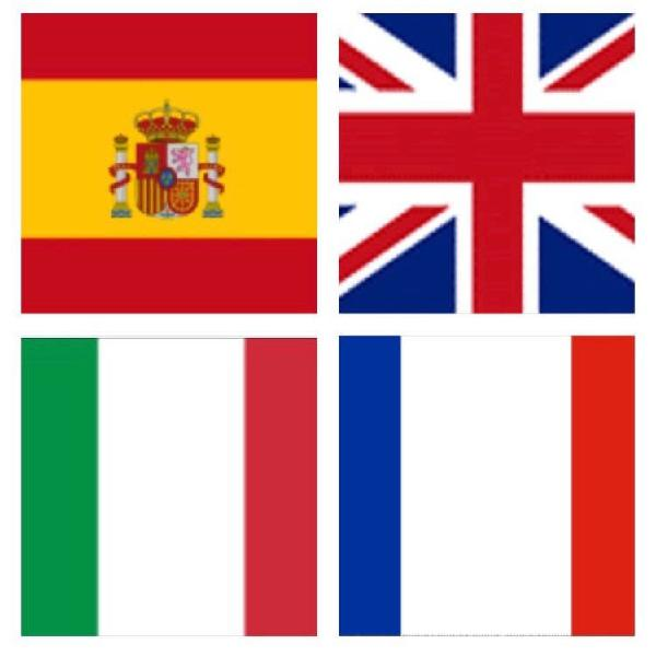 Inglés, francés, italiano y apoyo escolar