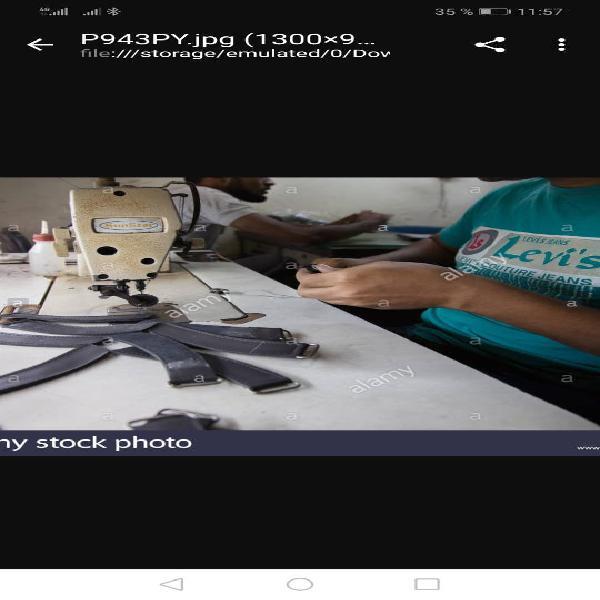 Maquinista para confeccion de bolsos etc