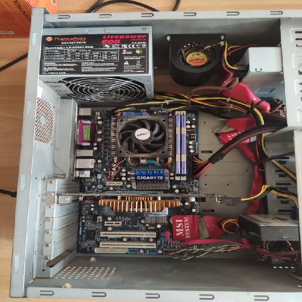 Pc escritorio completo, amd quad core phenom ii x4