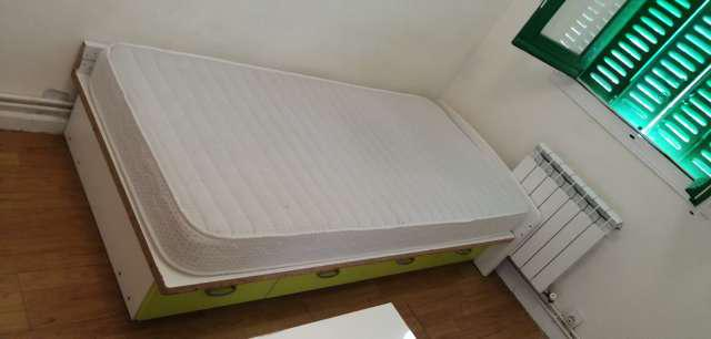 Regalo cama de madera maciza con cajonera