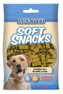 Arquivet soft snacks huesitos duo pollo y caza 100 gr